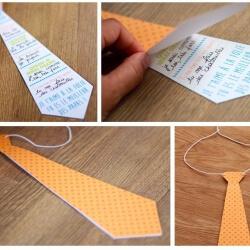 cravate en papier fête des pères