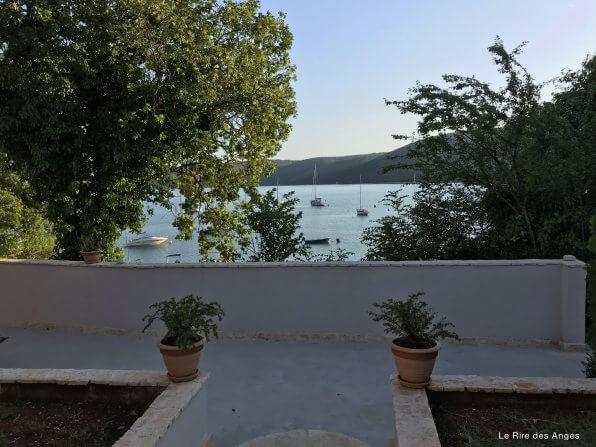 vue maison de vacances Trget