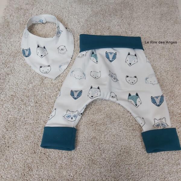 pantalon evolutif renard bleu