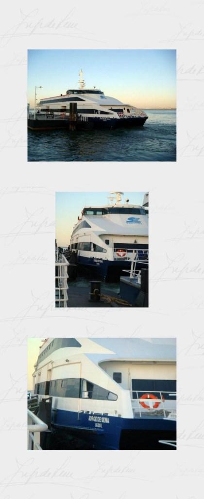 Jorge de Sena dá nome a uma das novas embarcações que cruzam o Tejo. Apesar de excluído da Marinha, é como se continuasse a navegar -- agora sobre as águas que bem conheceu como engenheiro, ao integrar, a partir de 1953, o Serviço de Pontes da JAE e sua Comissão para o Estudo das Ligações Rodoviárias e Ferroviárias entre Lisboa e a Margem Sul do Tejo.