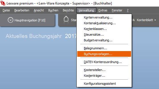 Lexware Buchhalter: Vorlagen zur Buchungserfassung anlegen und verwenden, Anleitung von Lexware mit Tipps von Lern-Ware