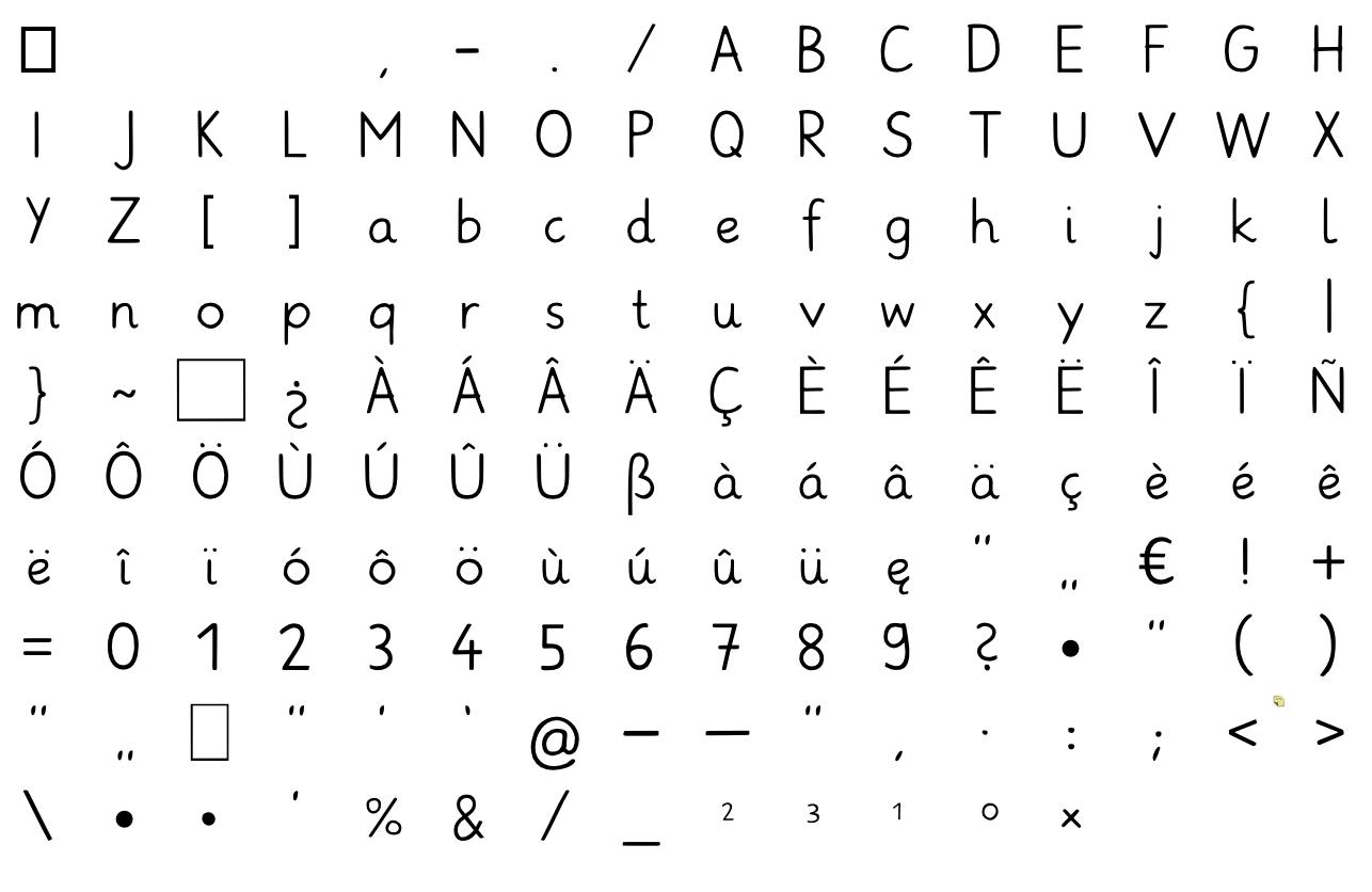 Kostenlose Grundschrift Font