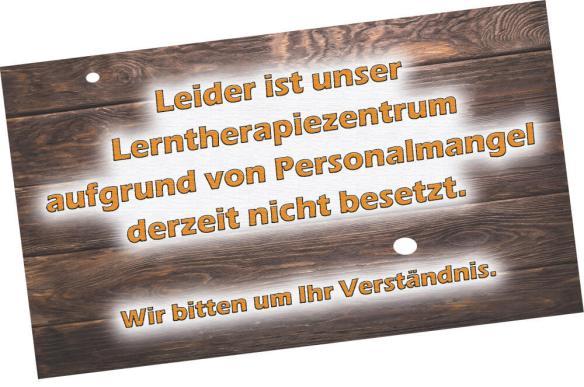 Zentrum für Lerntherapie und Lernförderung_Vorüebergehend nicht besetzt_Oktober 2018