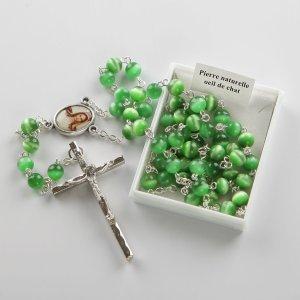 chapelet-vert-foncé-argenté