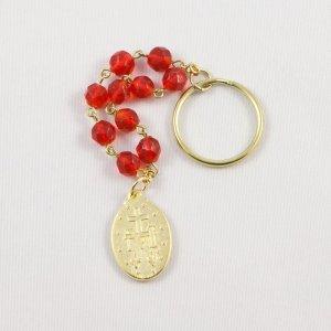 porte-clefs dizainier avec médaille miraculeuse-revers