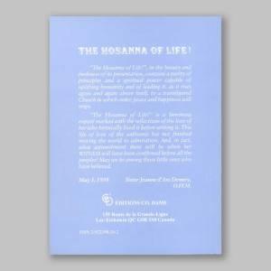 the hosanna of life 1b