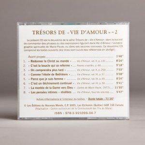 trésors de vie d'amour 2b-cd