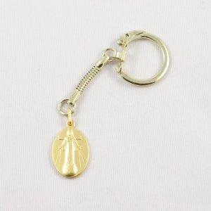 porte-clefs avec médaille de la dame-doré-avers
