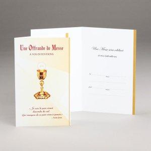 carte offrande de messe-pain vivant