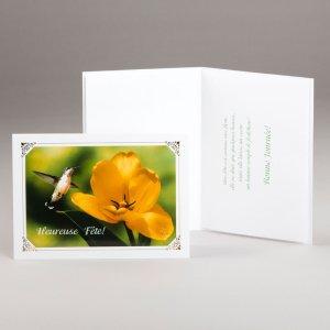 carte anniversaire-fleur et colibri