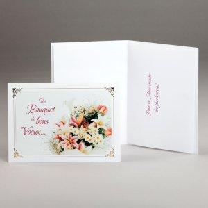 carte anniversaire-bouquet de bons voeux
