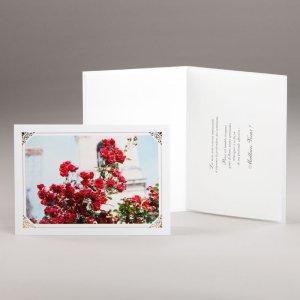 carte bouquet spirituel-rosier en fleurs