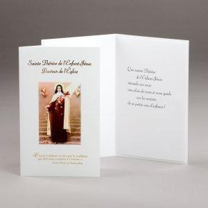carte dévotions diverses-ste thérèse de l'enfant-jésus
