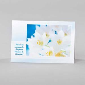 carte notes - éveil printanier 1 - petits lys blancs