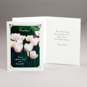 easter card-tulips of light