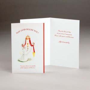 card for holy communion-girls-receiving jesus