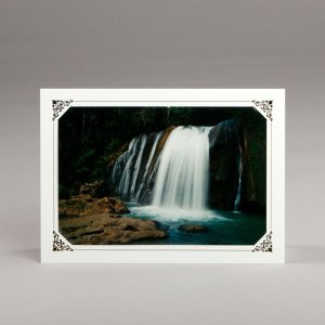 card with assorted photos-falls in jamaica