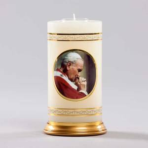 chandelle céleste-pape jean-paul 2 en prières