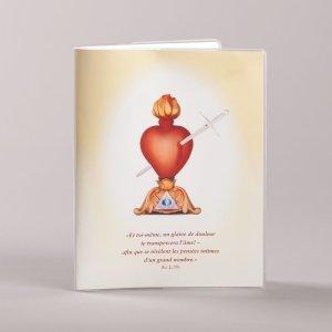 couvre prions en église - coeur transpercé - avers