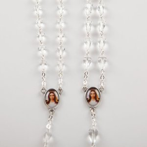 chapelets en verre forme diamant