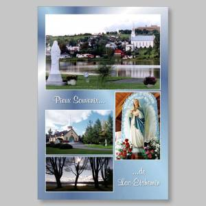 carte postale - pieux souvenirs