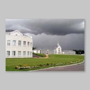 carte postale - spiri-maria sous un ciel menaçant