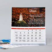 calendrier 2017 - Fatima 100 ans - format CD pour bureau - démo