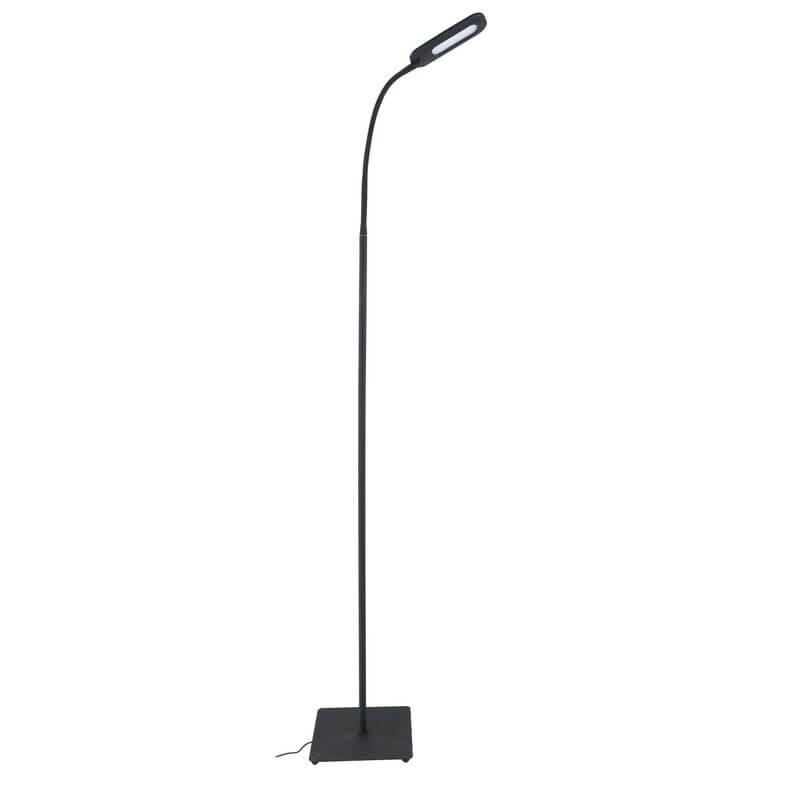 lampadaire liseuse led mei inspire 158 cm noir 6 5w w
