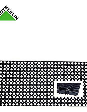 paillasson caoutchouc noir l 40 x l 60 cm tapis exterieur