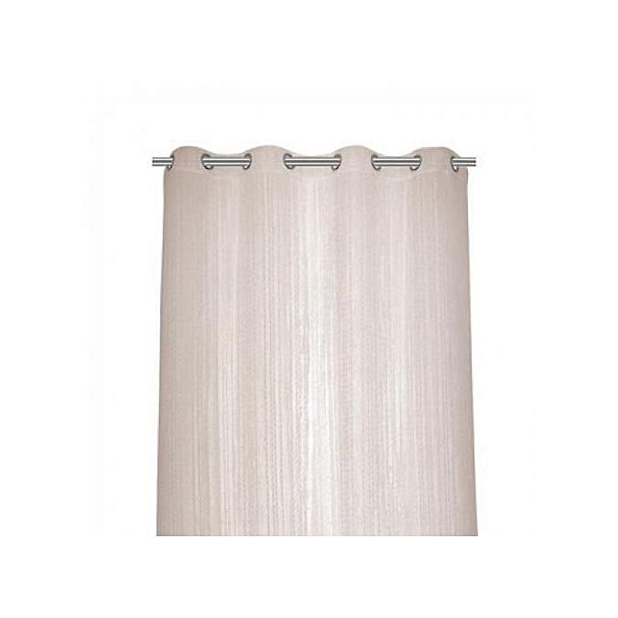 rideau fil violet dim 90x240cm finition ourlets lavable a 30