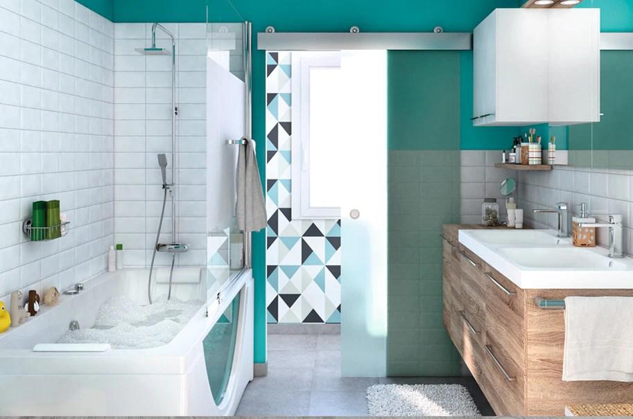 Consejos para combinar los azulejos con la pared pintada