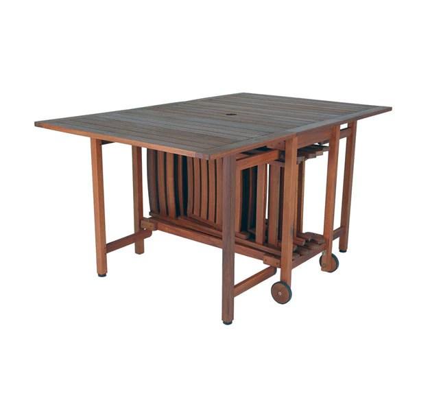 Set de madera de acacia OVIEDO Ref 14024472  Leroy Merlin