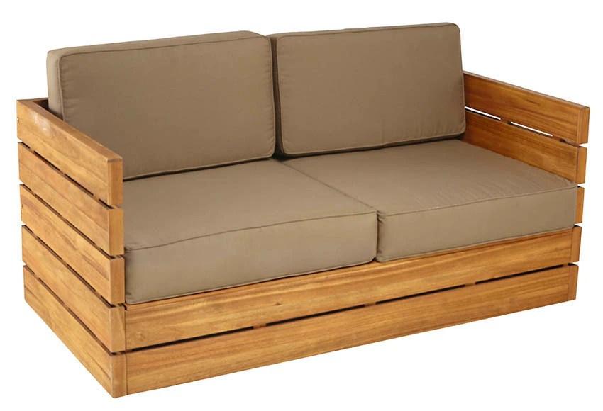 Sof de madera de teca y polister MONTEVIDEO Ref