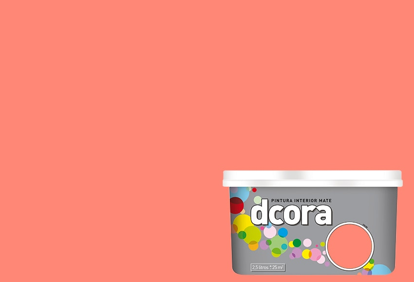 Pintura de color para paredes y techos DCORA CORAL Ref