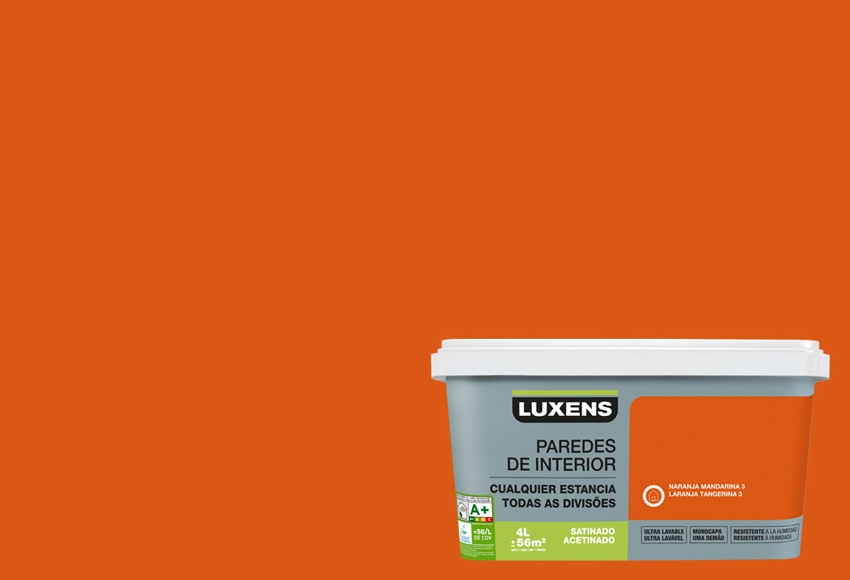 Pintura de color para paredes y techos LUXENS ULTRALAVABLE