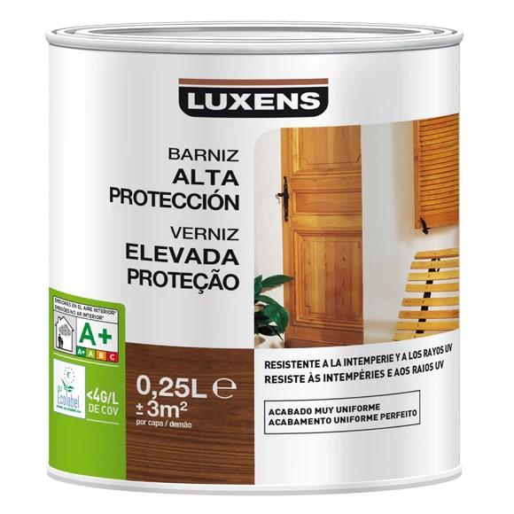 Productos para la madera BARNIZ EXTERIOR LUXENS INCOLORO