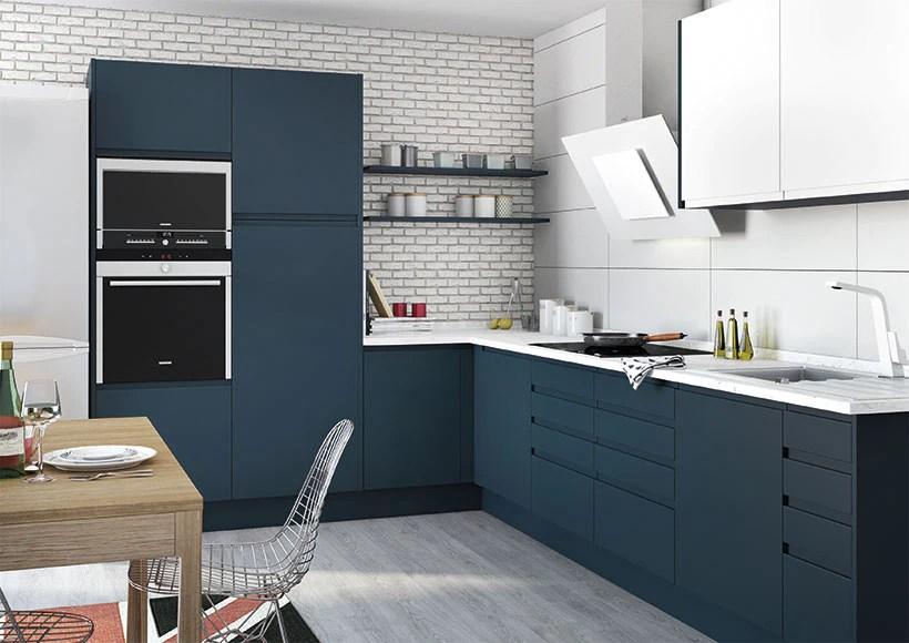 Cocina Azul Mate