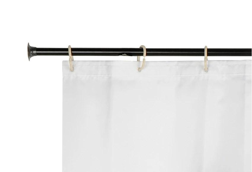 Barra para la cortina de la ducha RSTICA NEGRA Ref