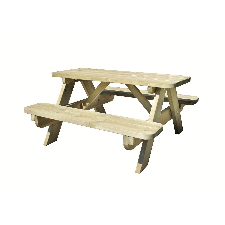 Table de jardin pour enfants Forestire rectangulaire vert 4 personnes  Leroy Merlin