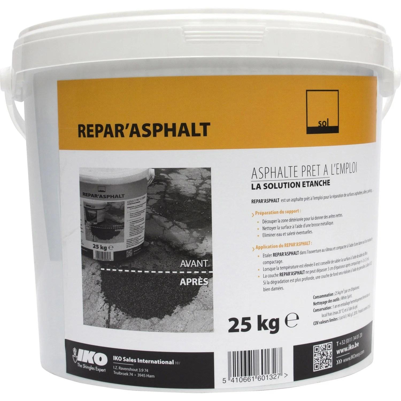 Rparation De Bitume Iko Reparasphalt 25 Kg Noir