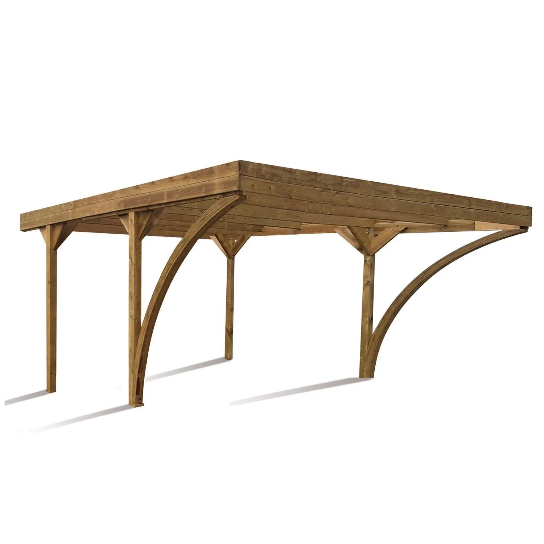 carport bois voitures sur mesure. Black Bedroom Furniture Sets. Home Design Ideas