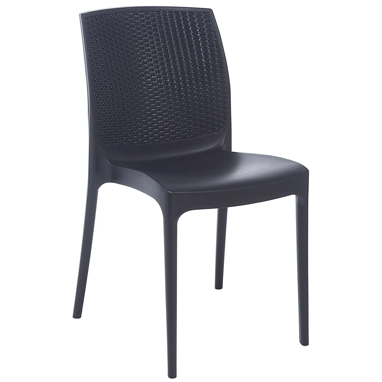 Chaise de jardin en rsine tresse Bohme anthracite  Leroy Merlin