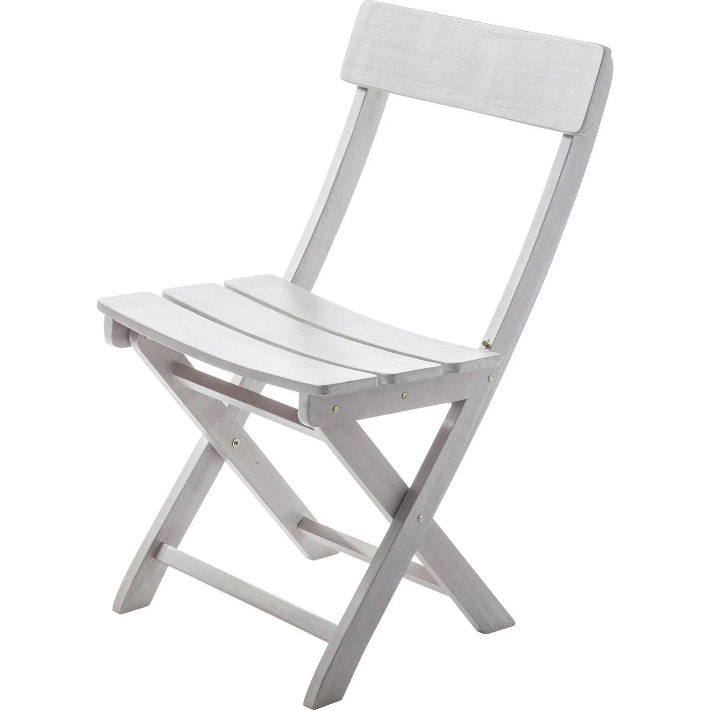 Chaise de jardin en bois Portofino gris  Leroy Merlin