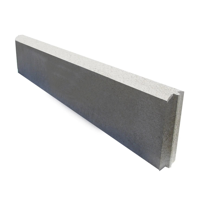 Bordure droite Longueur 1m  avec embotement bton gris