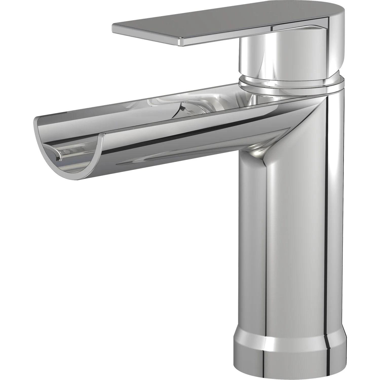 Mitigeur de lavabo cascade chrom Cascato  Leroy Merlin