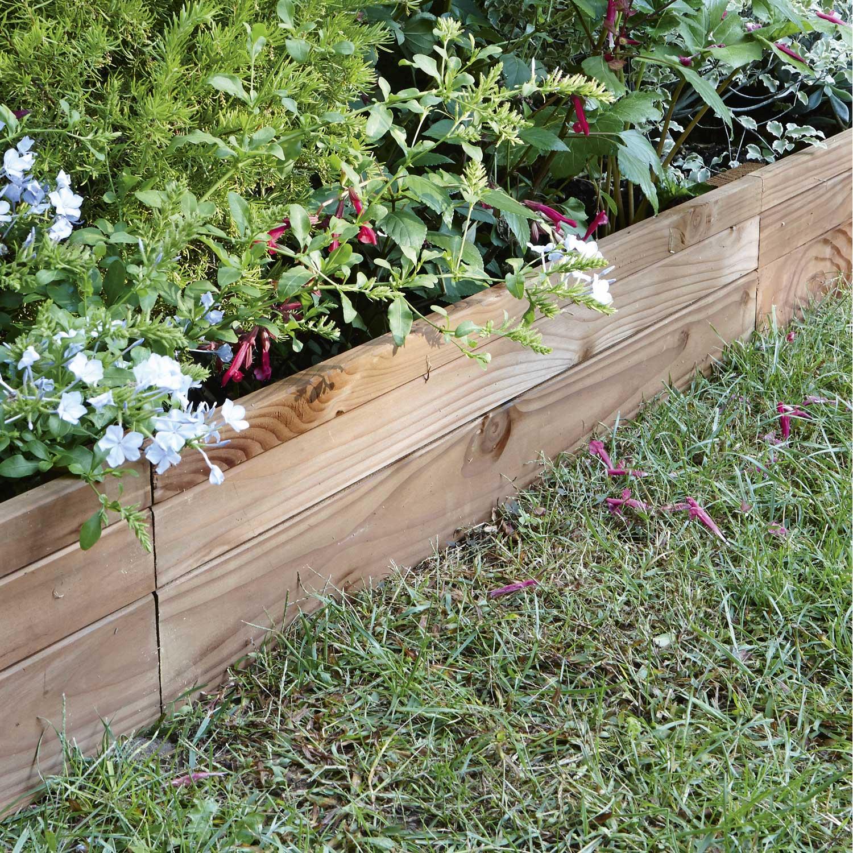 Bordure  planter Douglas bois marron H45 x L90 cm  Leroy Merlin