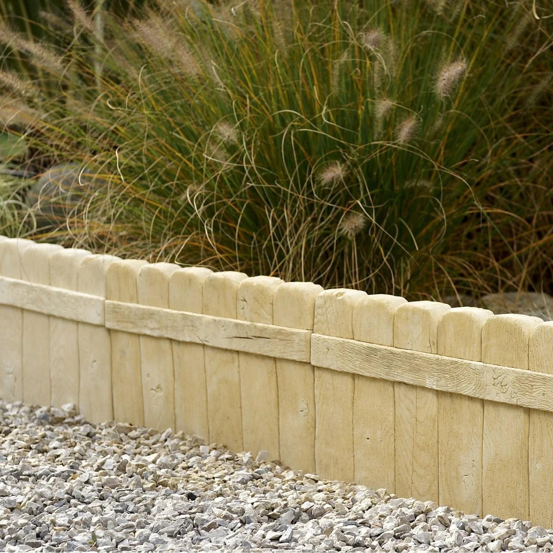 S v p produits bordure droite alpege beton naturel h x l cm e for Bordure de jardin beton brico depot