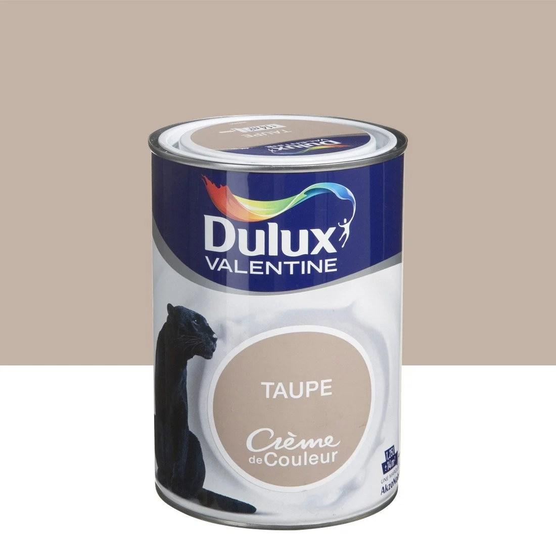 Peinture Multisupports Crme De Couleur DULUX VALENTINE Brun Taupe 125 L Leroy Merlin