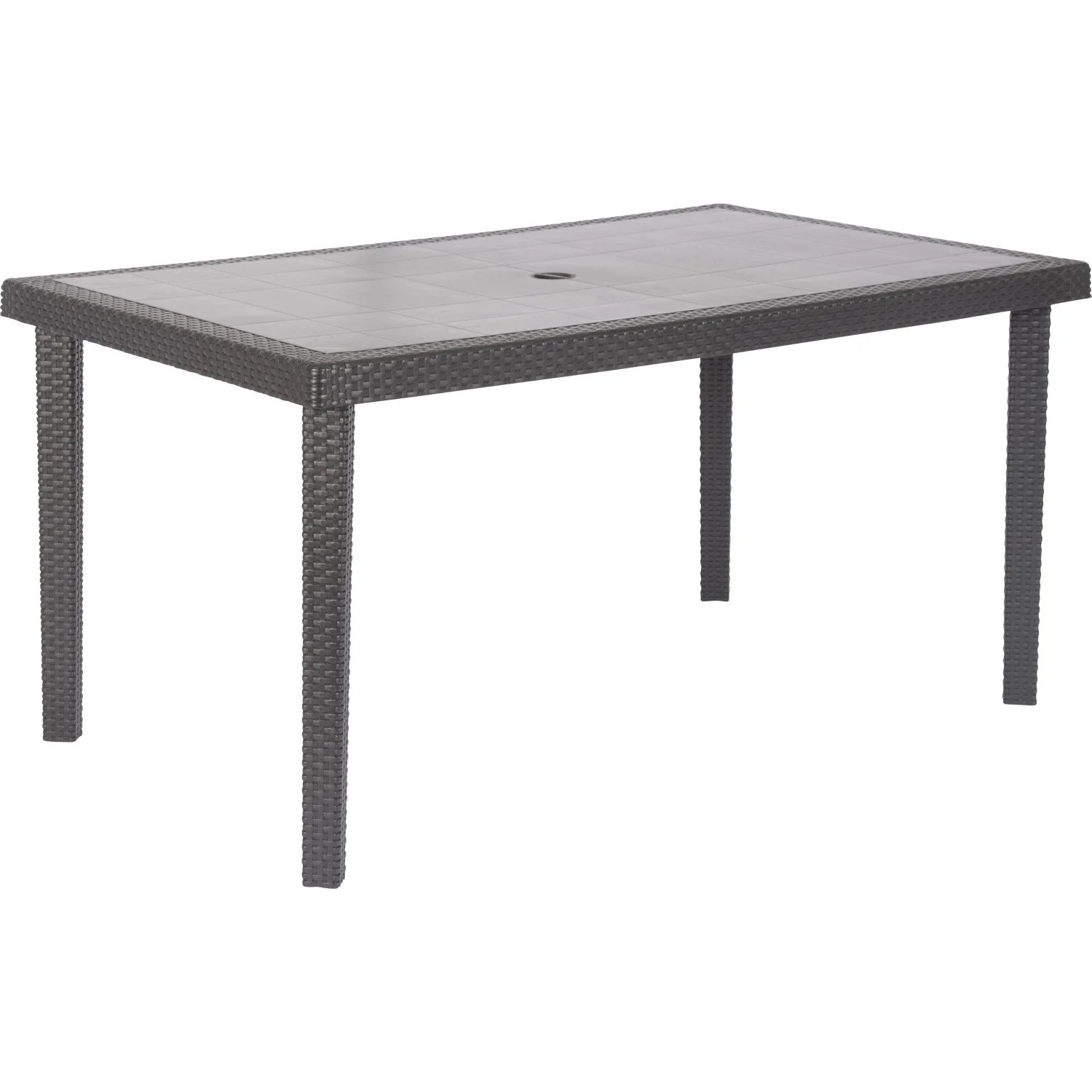 Table de jardin Bohme rectangulaire anthracite 6 personnes  Leroy Merlin