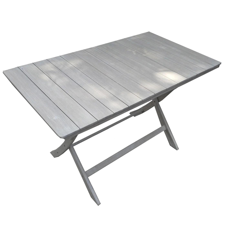 Table de jardin NATERIAL Portofino rectangulaire gris 4 personnes  Leroy Merlin